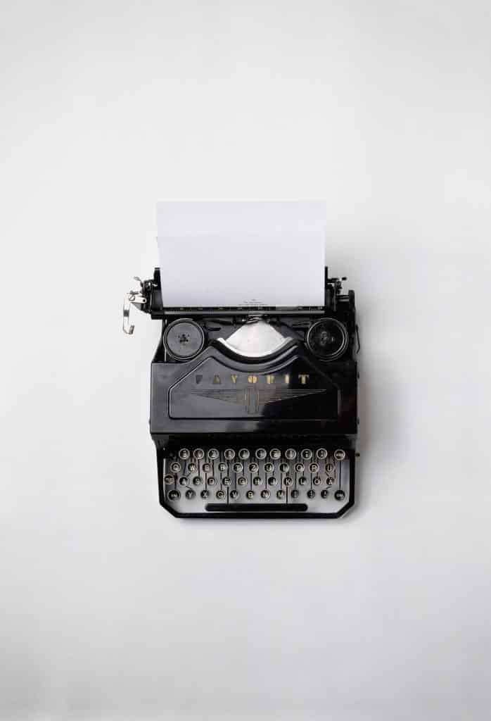 Vintage, old typewriter